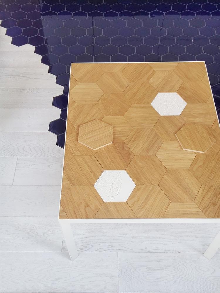 Hexagon tiles big version + tiles on the table