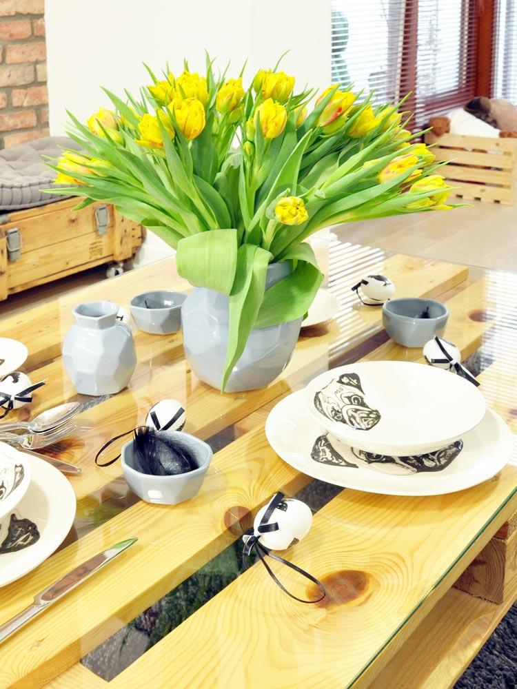 Ceramics dishes set – black & white