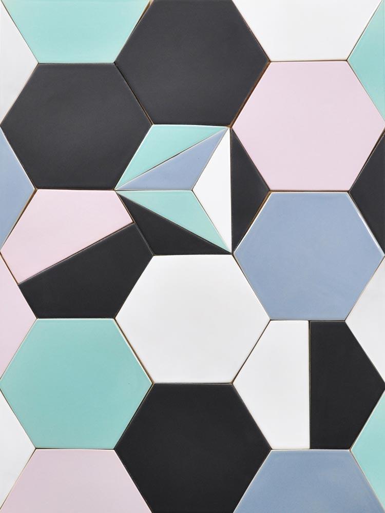 Hexagon tiles – multi coloured