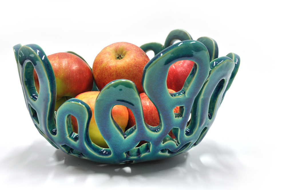 Coral bowl turquoise crackle2