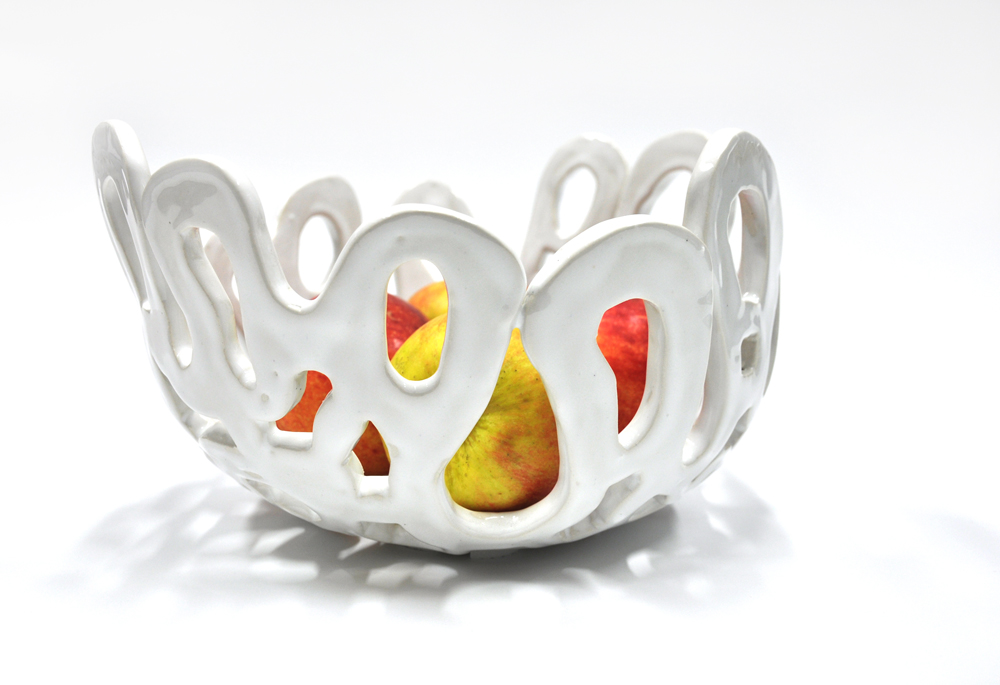 Coral bowl white glossy1