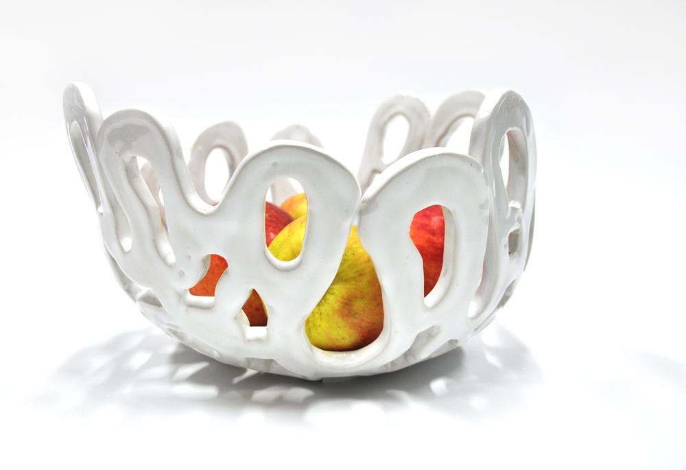 Coral bowl white glossy1