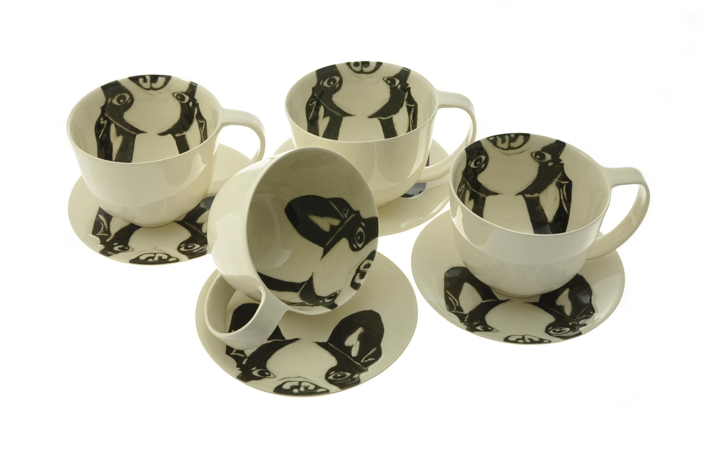 The French bulldog black&white series