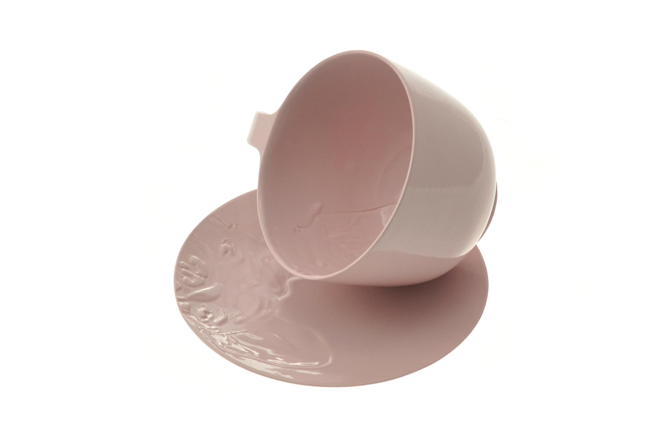 The French bulldog pastel pink series